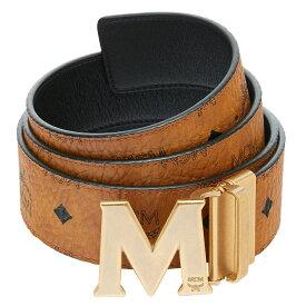 MCM MXB9SVI11-CO001 COGNACVISETOS ANTIQUE M REVESIBLE BELTエムシーエム クラウス アンティーク M リバーシブルベルトヴィセトス ユニセックスベルトコーテッドキャンバス×レザー 〜128cm対応(カット可能)コニャック×ブラック×ゴールド