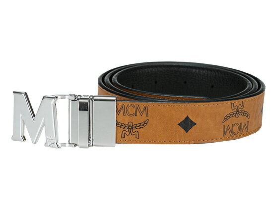 MCM MYB6AVC10-CO001エムシーエム リバーシブルベルトPVC×レザーコニャック×ブラック