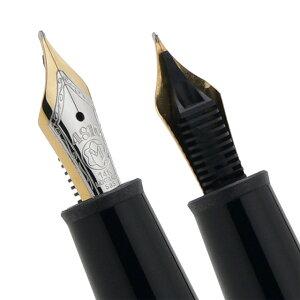 MONTBLANCP145-EFモンブランマイスターシュテュックプラチナコーティングクラシック万年筆14Kプラチナ装飾ペン先EF(極細字)ブラック×シルバー