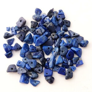 半貴石天然石さざれ石小サイズ約3-7mm(5g)ラピス├天然石ワックスコード蝋引き紐ハンドメイドアクセサリービーズパーツピアスイヤリングブレスレットさざれ┤