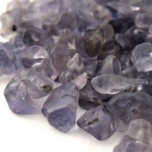 半貴石天然石さざれ石ホールあり小サイズ約3-8mm(5g)アイオライト├天然石ワックスコード蝋引き紐ハンドメイドアクセサリービーズパーツピアスイヤリングブレスレットさざれ┤