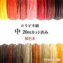 蝋引き紐 ワックスコード 【 中 幅1.0mm 】 暖色系カラー(20メートルカット)