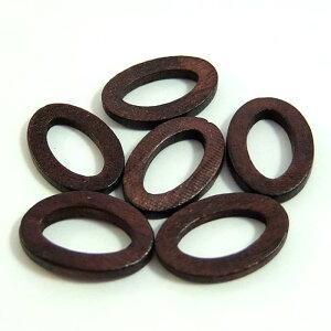 ウッドパーツフープオーバル(1個)├ウッド木ビーズアクセサリーパーツアクセサリーパーツブレスレットピアスイヤリングネックレスワンポイント手芸資材素材┤