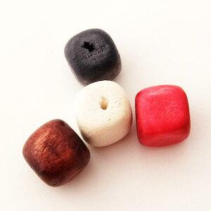 ウッドビーズパーツキューブ(1個)├ウッド木ビーズアクセサリーパーツアクセサリーパーツブレスレットピアスイヤリングネックレスワンポイント手芸資材素材┤