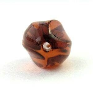 アクリルビーズパーツアーモンド(1個)クリアブラウン├アクリル樹脂ビーズアクセサリーパーツアクセサリーパーツブレスレットピアスイヤリングネックレスワンポイント手芸資材素材┤
