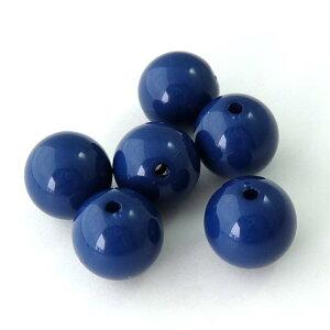 アクリルビーズパーツ丸玉16mm(1個)ブルー├アクリル樹脂ビーズアクセサリーパーツアクセサリーパーツブレスレットピアスイヤリングネックレスワンポイント手芸資材素材┤