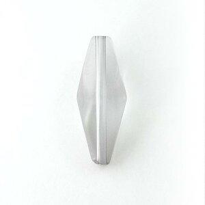 アクリルビーズパーツコーン(1個)クリアグレー├アクリル樹脂ビーズアクセサリーパーツアクセサリーパーツブレスレットピアスイヤリングネックレスワンポイント手芸資材素材┤