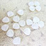 チェコビーズローズペタルミニ(花びら)8×7mmスノーシマー(1ヶ)ビーズアクセサリーチェコパーツ