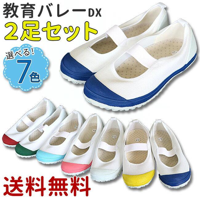 【送料無料】教育バレーDX 2足セット(教育シューズ 上履き 上靴 内履き)