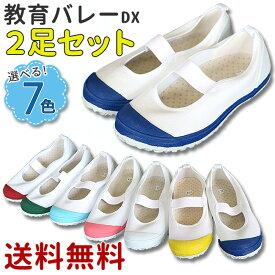 【送料無料】教育バレーDX 2足セット 上履き(教育シューズ 上靴 内履き)【T】