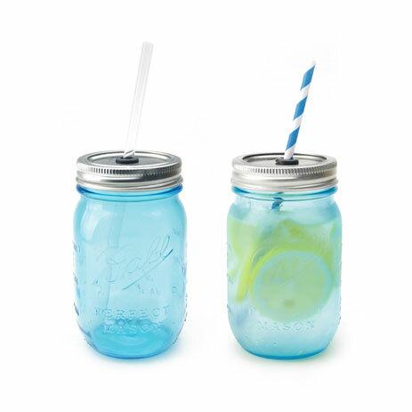 Rednek Sippers Glass blue/ レッドネック シッパー グラスブルー【ball mason jar ボール メイソン ジャー コップ グラス ガラス タンブラー カフェ アメリカ】