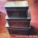 Numbering Zin Box L/ナンバリングジンボックスL【ク ビンテージ インダストリアル アンティーク フレンチ パリ 北欧 シャビー 雅姫 店舗什...