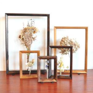 一輪挿しフラワーフレーム(S1)【花瓶 一輪挿し フラワーベース ガラス おしゃれ 壁掛け 試験管 かわいい フレーム ドライフラワー 生花】