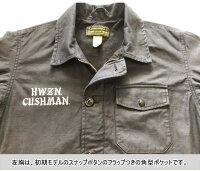 全国どこでも送料無料!!春夏新作!!【CUSHMAN】A-2デッキジャケット(CUSHMAN×HWZN)【クッシュマン】コットン100%メンズ&レディース