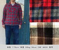 全国どこでも送料無料!!秋冬新作!!【CUSHMAN】シャギーチェックオープンカラーシャツ【クッシュマン】メンズ&レディース長袖アメカジコットン100%