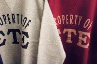 全国どこでも送料無料!!2019年秋冬新作!!【CUSHMAN】セットインスリーブプリントスウェット(ΣΤΕ)【クッシュマン】メンズ&レディーススウェットアメカジコットン100%