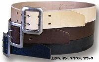 全国どこでも送料無料!!新作!!【CUSHMAN】40mmダブルピンベルト【クッシュマン】メンズ&レディースカウハイドベルト