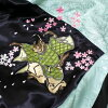 Everywhere in the whole country! I work on it newly in winter in the autumn of 2019! Cat embroidery ska Jean men & Lady's sum pattern reversible peaceful to a cherry tree