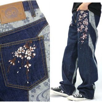 Everywhere in the whole country! I work on it newly in winter in the autumn of 2018! Cherry tree embroidery change denim men & Lady's jeans
