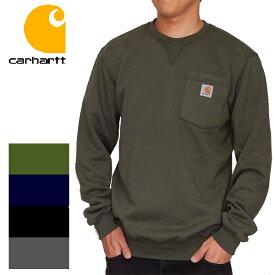 CARHARTT カーハート トレーナー メンズ ポケット付き 無地 裏起毛 胸ポケ USA アメリカ企画 103852