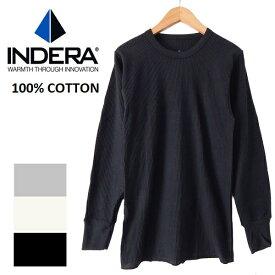 INDERA MILLS 839 インデラミルズサーマル コットン100% 長袖 Tシャツ ロンt ワッフル