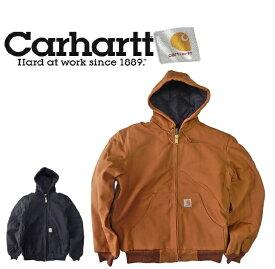 【ブラック Sのみ。】CARHARTT J140 カーハート アクティブジャケットダック キャンバス パーカー USAアメリカ製 キルティング ネル 裏地付き
