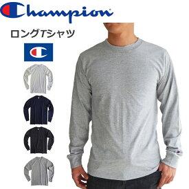 11月22日、再入荷。CHAMPION チャンピオンメンズ 無地 長袖tシャツ ロンt ロングスリーブロングtシャツ USA限定モデル 黒