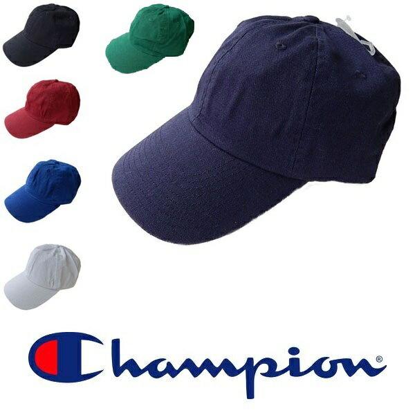 【メール便で送料無料。】CHAMPION チャンピオン キャップ 帽子 フリーサイズ 無地 メンズ レディース カーブキャップ