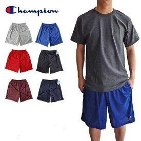 ポケット付き CHAMPION MESH SHORTチャンピオン メッシュショーツハーフパンツ ナイロン ショートパンツロングショーツ バスケショーツ ジムショーツ バスケット