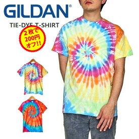 【2枚で200円引きクーポン】GILDAN TIEDYE T-SHIRTS ギルダン タイダイ Tシャツ メンズ レディース ユニセックス