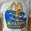 California McDonald's Malibu Beach special surf T shirt surfing North Shore surfer T shirts McDonald's Malibu standard California