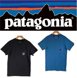 PATAGONIA巴他戈尼亚有机棉布菲茨罗伊徽章口袋T恤
