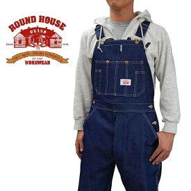 1月30日、再入荷 日本人向けレングス30。ROUND HOUSE ラウンドハウスリジッドデニム オーバーオール 未洗い