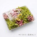 サクラカラー花材セット 1ケース /ハーバリウムやアロマワックスバー ボタニカルサシェにも 花材 プリザーブドフラワ…
