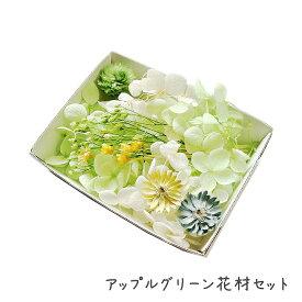 ハーバリウム花材 アップルグリーン花材セット 1ケース プリザーブドフラワー ドライフラワー