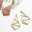 レジン 枠 高級感のあるマットな質感の変形四角形フレーム 2個 ゴールド