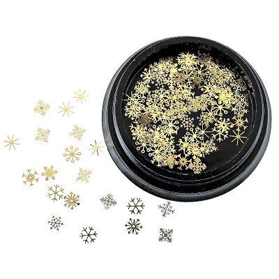 レジン封入材料繊細なゴールドスノーフレークパーツ約0.5gゴールド