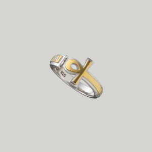 【mouchu(マウチュ)】Ankh Ring(リング 指輪 Silver925 キュービックジルコニア)