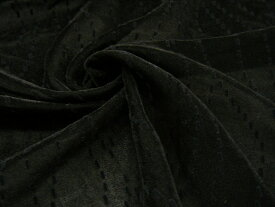 ◆ 引越移転セール ◆【 メール便不可商品です 】【 1.7m全部で 3,980円 】★ 薄手 フロッキープリント ベルベット 生地 ♪ ブラック ♪≪ 日本製 服地 布 黒色 ≫【 1万円以上で送料無料です 】e9ke727 tE