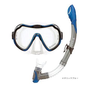 硅设置 2 套全尺寸男人的男装 SM 102Q 浮潜面具