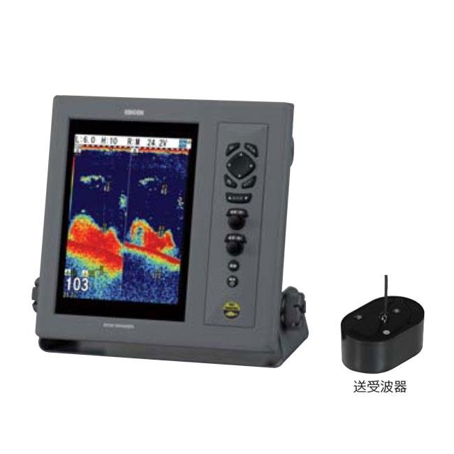 【KODEN/光電】10.4インチ液晶カラー魚群探知機(ブロードバンドタイプ) CVS-1410B&TDM-091D(送受波器) ブロードバンド魚探 魚群探知機 航海計器