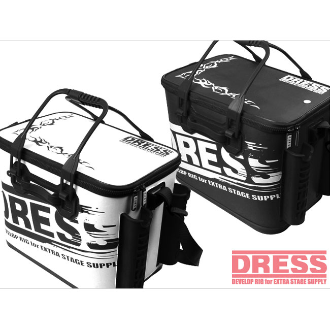【DRESS/ドレス】オリジナルバッカン LD-OP-090 バッカン セミハードタイプ 仕切りなし ロッドホルダー付き