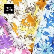 【CECILMcBEE/セシルマクビー】マイクロファイバー巻きタオル229-602花柄ラップタオル大人用プール用品