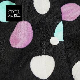 【CECILMcBEE/セシルマクビー】マイクロフリース巻きタオル229-605ドット柄ラップタオル大人用プール用品