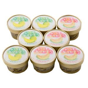 【お取り寄せグルメ】いつもありがとうラベル 北海道メロンアイスクリームセット(8個入り) 1003-070012 北海道直送品 送料無料 のし対応可 ギフト 贈物