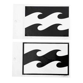 【BILLABONG/ビラボン】B00-S06 W135mm プリントステッカー シール ブラック ホワイト ロゴ