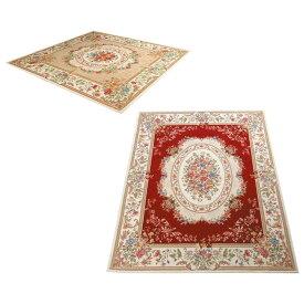 ラグ カーペット おしゃれ ラグマット 絨毯 ペルシャ ダイニングラグ マット じゅうたん 厚手 極厚 北欧 安い ゴブラン織り 調 アンティーク 200×200 3畳
