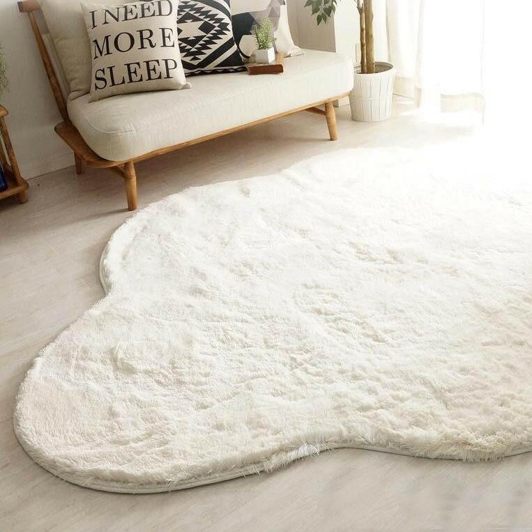 ラグ ラグマット ダイニングラグ マット 絨毯 カーペット じゅうたん 厚手 おしゃれ 北欧 安い 洗える 滑り止め 床暖房 床暖房対応 190×240 3畳 ホワイト