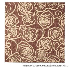 ラグ カーペット おしゃれ ラグマット 絨毯 花柄 じゅうたん マット 厚手 極厚 北欧 安い ふかふか ふわふわ 130×185 2畳 ブラウン