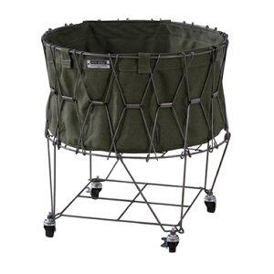 洗濯カゴ ランドリーバスケット 洗濯かご スリム 一人暮らし 低い 持ち運び 大容量 おしゃれ 北欧 コンパクト 収納 通気性 ラック 細い 洗濯物入れ 薄型 薄い グリーン 緑 約 幅45 奥行46 高さ5